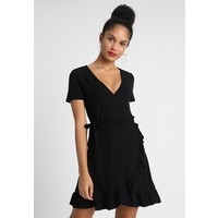 ONLY ONLHOLLY WRAP DRESS Sukienka z dżerseju black ON321C0YE