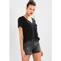 Abercrombie & Fitch BOYFRIEND TEE NEUTRALS T-shirt z nadrukiem black A0F21D01I