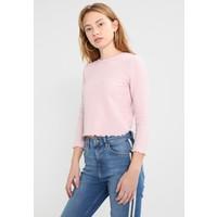 Topshop WAFFLE Bluzka z długim rękawem pink TP721D0JU