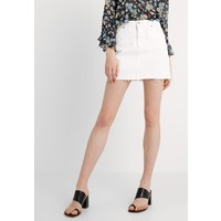 Topshop SKIRT NEW Spódnica jeansowa white TP721B0CS