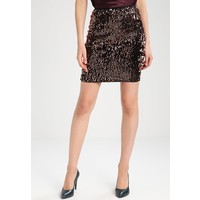 ONLY ONLCONFIDENCE Spódnica mini black/sequins copper ON321B0BB