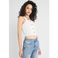 New Look HANNAH CROP CAMI Bluzka off white NL021E0QH