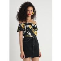 Gina Tricot VERA T-shirt z nadrukiem black/yellow GID21D00I
