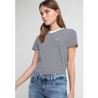 Tommy Jeans CLASSICS STRIPE TEE T-shirt z nadrukiem white/black TOB21D01R