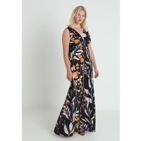 Anna Field Curvy Długa sukienka black/orange AX821C01R