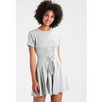 Topshop CORSET FLIPPY Sukienka z dżerseju grey marl TP721C0RQ