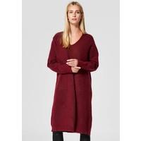 Selected Femme Sukienka dzianinowa dark red SE521C0KQ