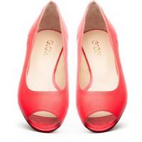 Gloss Shoes Malinowe baleriny z wycięciem