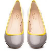 Gloss Shoes Baleriny szary/żółty