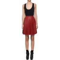 Filip Roth Czerwona spódnica ze skóry eko mini
