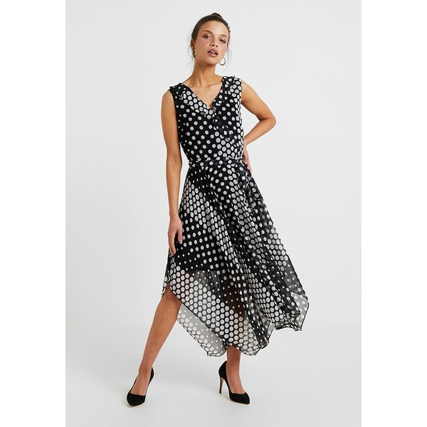 Wallis Petite RUFFLE SPOT DRESS Sukienka koktajlowa black WP021C05G