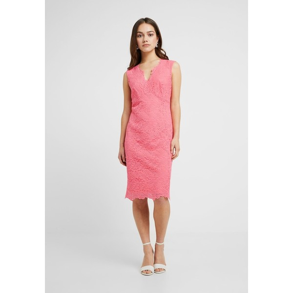 Wallis Petite SCALLOP V NECK DRESS Sukienka etui coral WP021C05Y