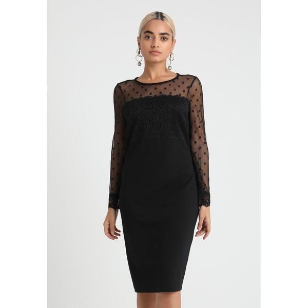Wallis Petite DOBBY DRESS Sukienka koktajlowa black WP021C04S