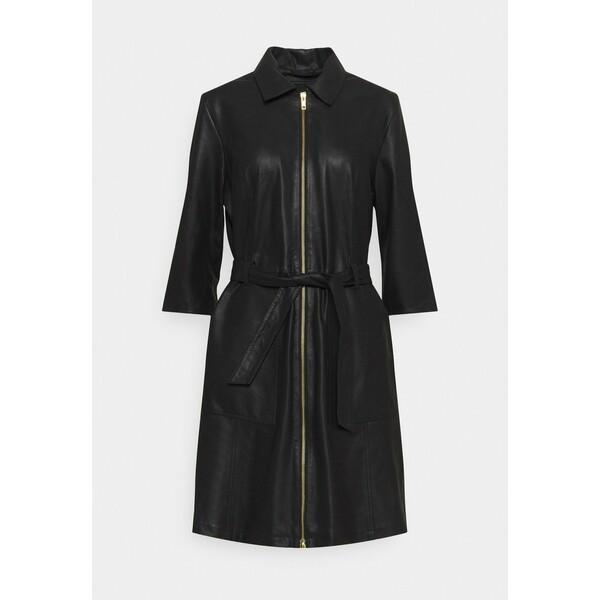 DEPECHE DRESS Sukienka koszulowa black DE321C009
