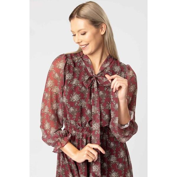 Quiosque Szyfonowa sukienka z wiązaniem przy dekolcie 4KY016612