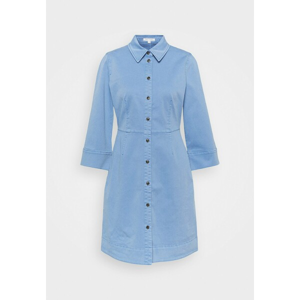 Marc O'Polo DRESS SHORT SHIRT STYLE,BUTTON PLACKET ROUNDED HEMLINE Sukienka koszulowa blue MA321C0NS