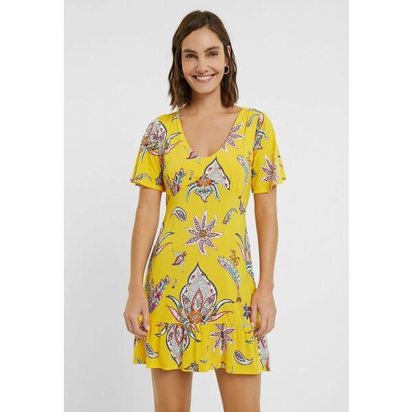 Desigual LEMARK Sukienka letnia yellow DE121C0UM