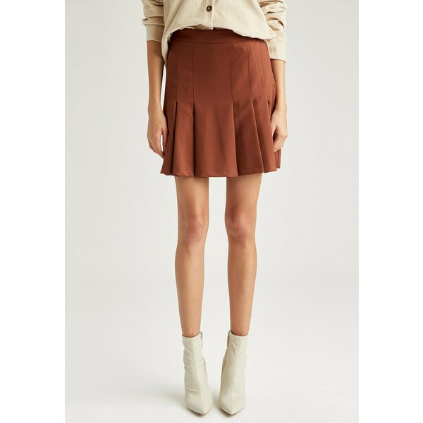 DeFacto Spódnica plisowana brown DEZ21B039