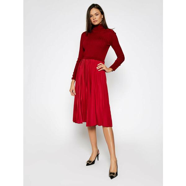 Sportmax Code Sukienka dzianinowa Gastone 73260205 Czerwony Regular Fit
