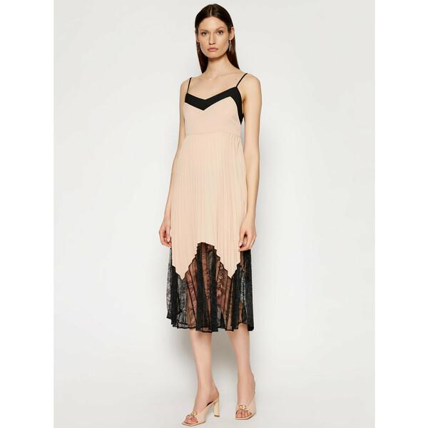 TwinSet Sukienka codzienna 211LL21AA Beżowy Regular Fit