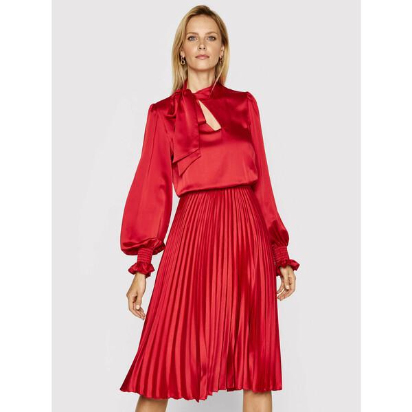 Nissa Sukienka wieczorowa RS11787 Czerwony Regular Fit
