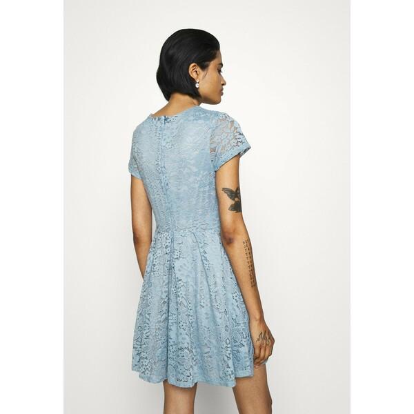 WAL G. AVERI SKATER DRESS Sukienka koktajlowa dusty blue grey WG021C0JW