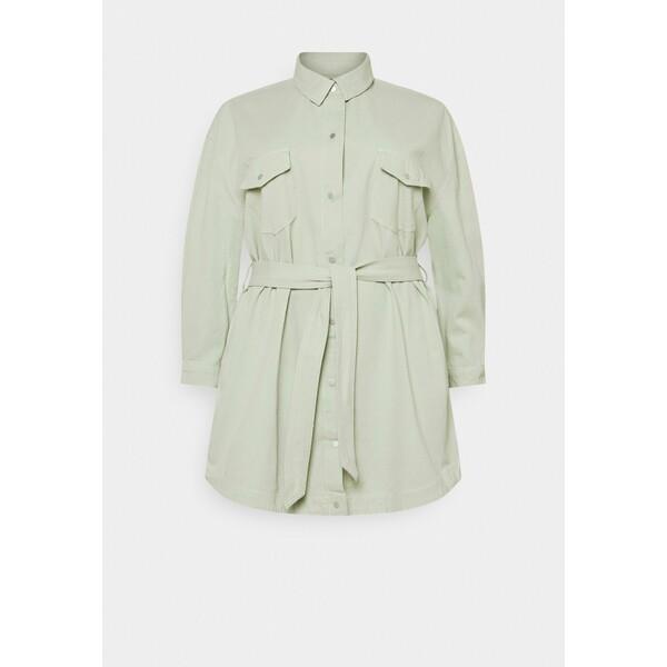 Missguided Plus CONTRAST BELTED SKIRT DRESS Sukienka jeansowa green M0U21C0GA