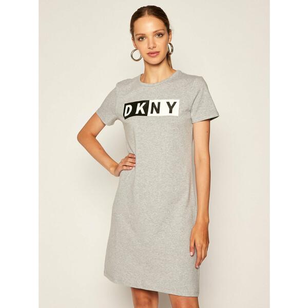 DKNY Sport Sukienka dzianinowa DP9D4261 Szary Regular Fit