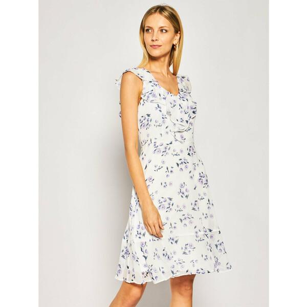 DKNY Sukienka letnia DD9BY153 Biały Regular Fit