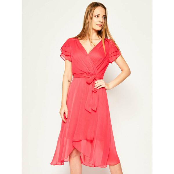 DKNY Sukienka koktajlowa DD0AI234 Różowy Regular Fit