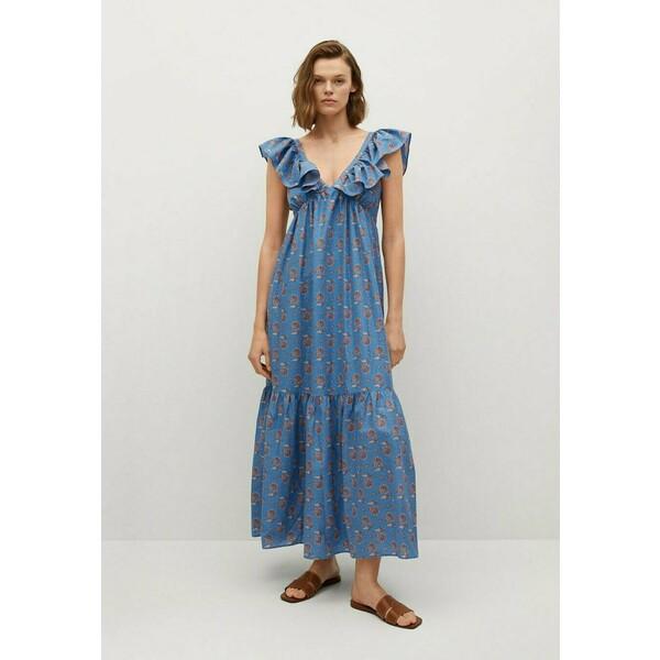 Mango SUNNY Długa sukienka niebieski M9121C521