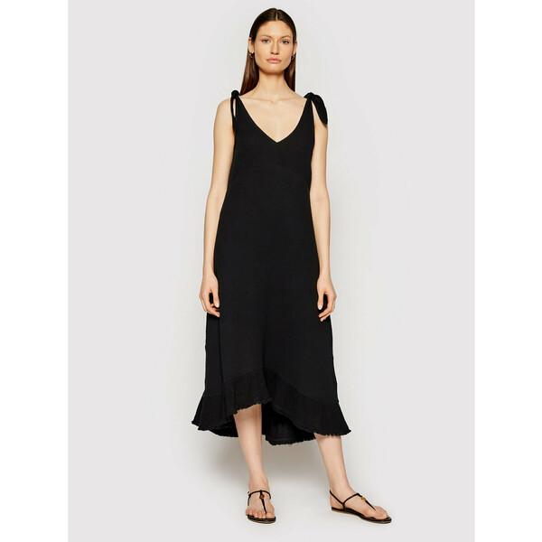 Seafolly Sukienka letnia Esplanade Slip 54375 Czarny Regular Fit