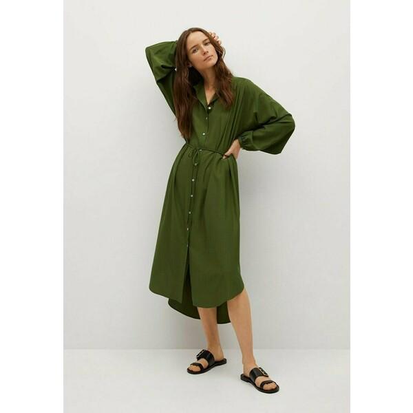 Mango FARM Sukienka koszulowa green M9121C4XW