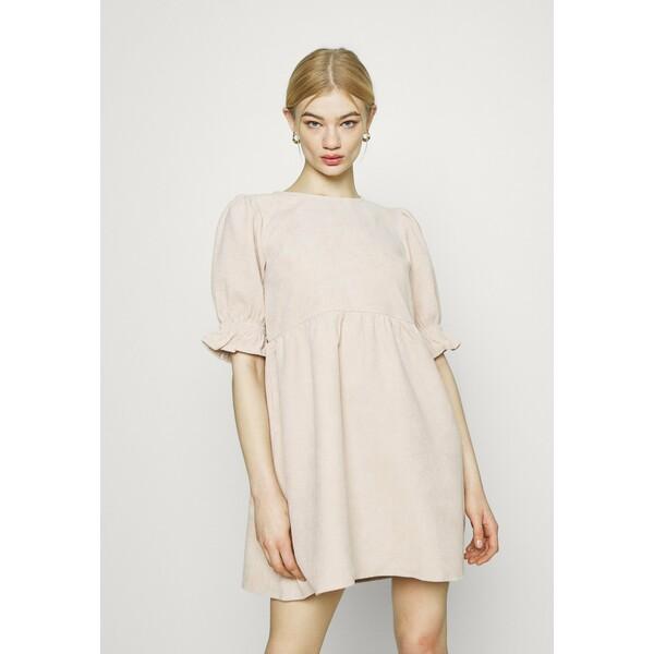 Missguided OVERSIZED SMOCK DRESS FRILL SLEEVE Sukienka letnia stone M0Q21C1VC