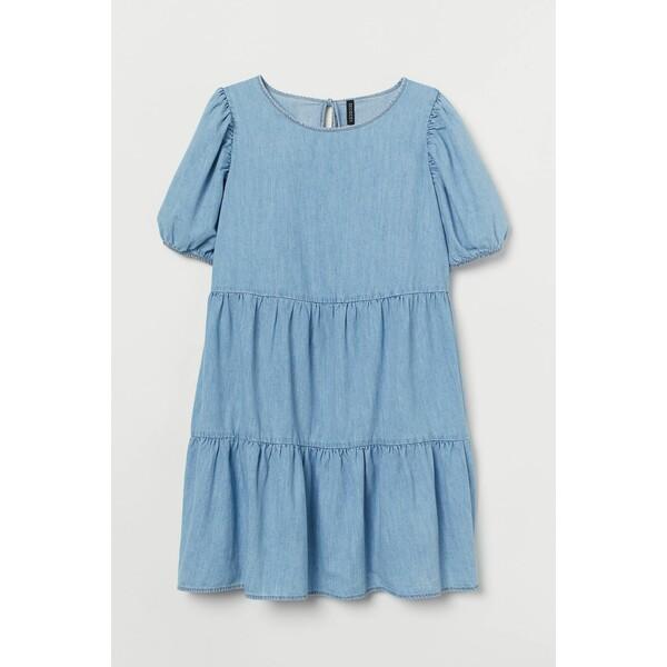 H&M H&M+ Sukienka dżinsowa 0888873002 Niebieski denim