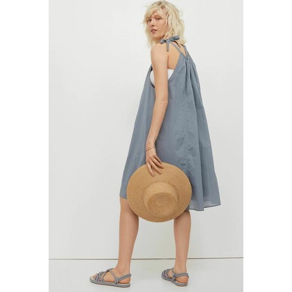 H&M Sukienka bez rękawów 0988624002 Szaroniebieski