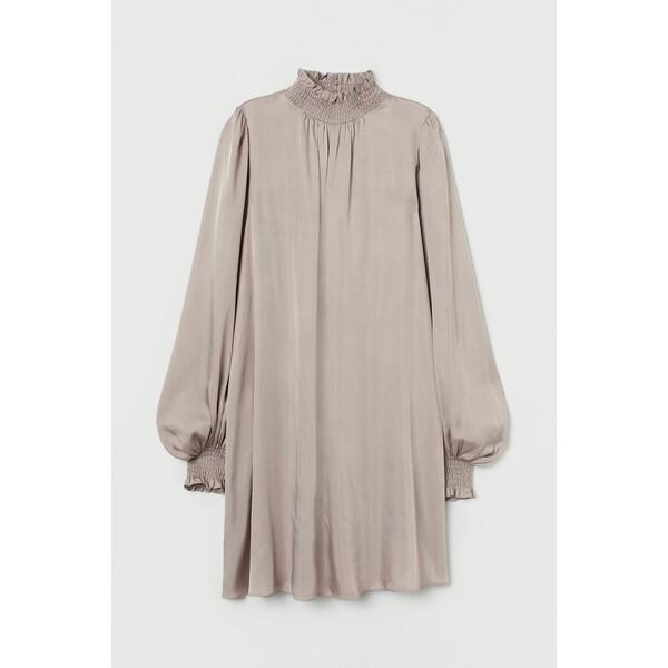 H&M Sukienka z marszczeniem 0928097003 Wrzosowofioletowy