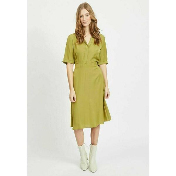 Vila Sukienka koszulowa green olive V1021C2JC