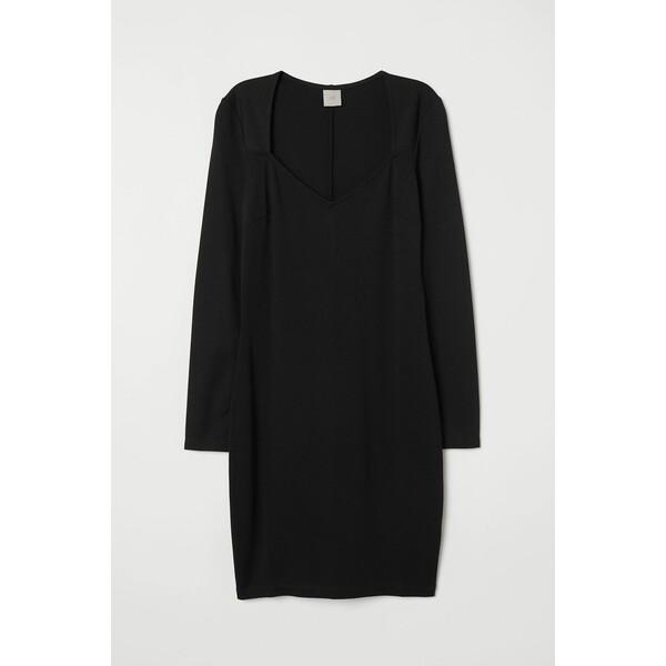 H&M Krótka sukienka 0748961001 Czarny