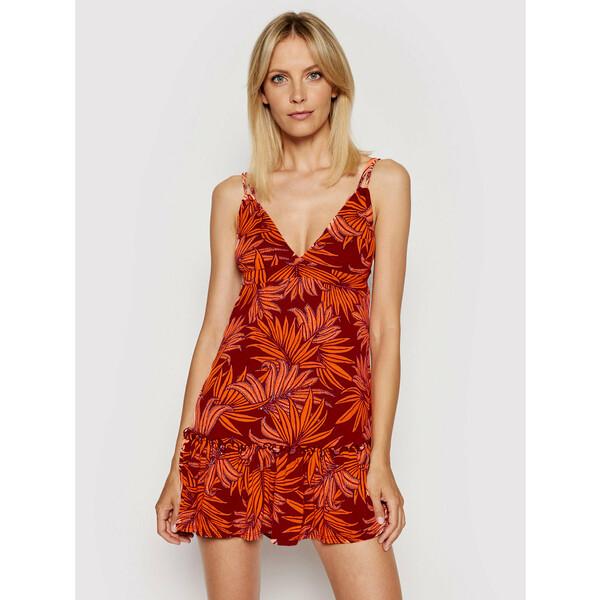 Maaji Sukienka letnia 1549CSD006 Pomarańczowy Regular Fit