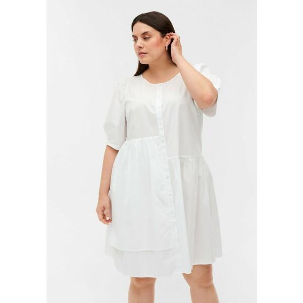 Zizzi Sukienka letnia bright white Z1721C137