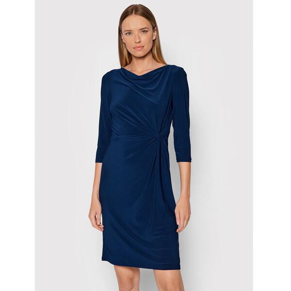 Lauren Ralph Lauren Sukienka codzienna 250768180013 Granatowy Regular Fit