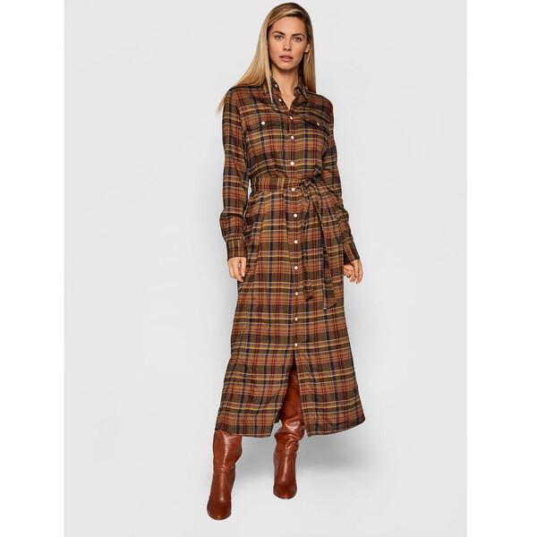Polo Ralph Lauren Sukienka koszulowa 211800586004 Zielony Regular Fit