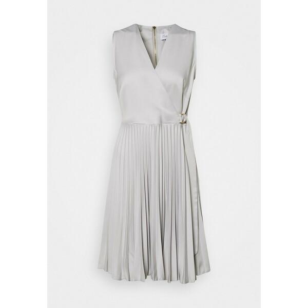 Closet CLOSET D RING WRAP FULL SKIRT DRESS Sukienka koktajlowa silver CL921C0SJ