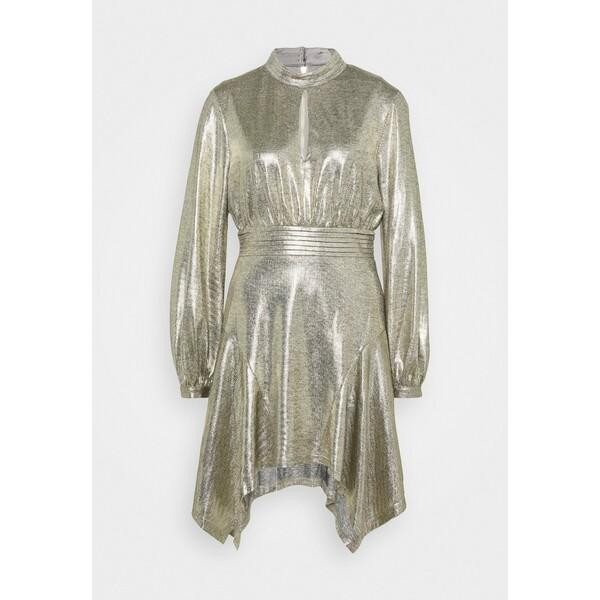 Mossman THE ERA MINI DRESS Sukienka koktajlowa gold MOL21C02I