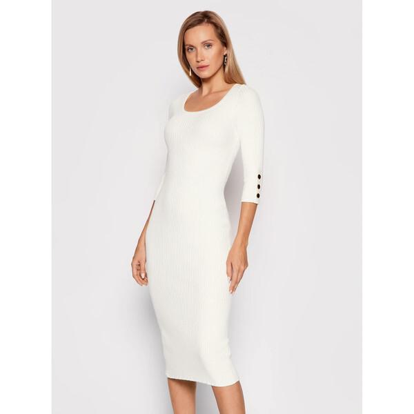 Marciano Guess Sukienka dzianinowa Edie 1BGK60 5613Z Biały Slim Fit