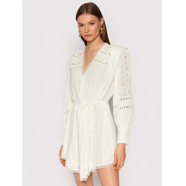 IRO Sukienka koktajlowa Cassie AP541 Biały Regular Fit