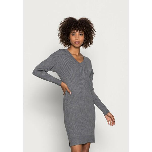 Saint Tropez ISADORA DRESS Sukienka dzianinowa grey iron melange S2821C0CJ