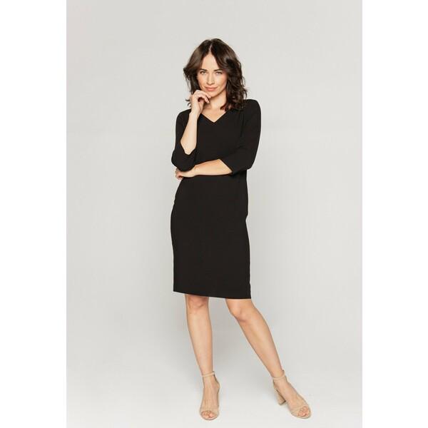 Bialcon Sukienka koszulowa czarny B0H21C038