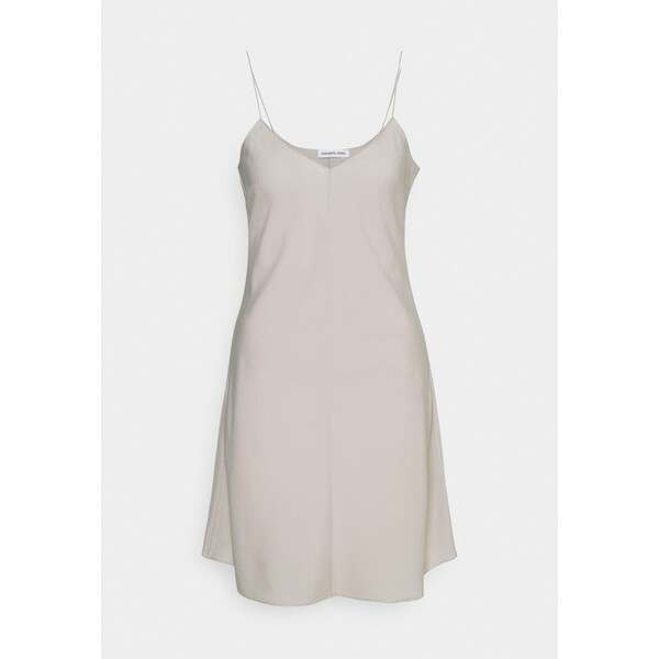 DESIGNERS REMIX VALERIE SLIP DRESS Sukienka letnia light grey DEA21C03G